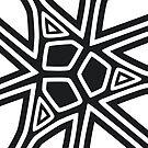 Black and white geometric art by senega