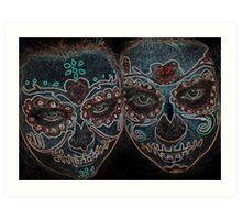 Painted Skulls Art Print
