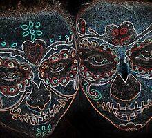 Painted Skulls by claraneva