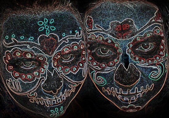 Painted Skulls by claraneva