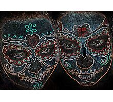 Painted Skulls Photographic Print