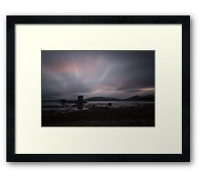 Castle Stalker Sunset Framed Print