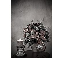 Christmas - Holiday Decoration (No Color) Photographic Print