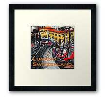 Wacky Lugano, Switzerland Framed Print