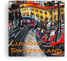 Wacky Lugano, Switzerland Canvas Print