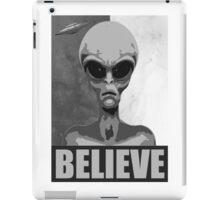 Believe (black/white version) iPad Case/Skin