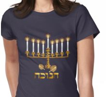 Golden Hanukkah Womens Fitted T-Shirt