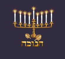 Golden Hanukkah Womens Fitted T-Shirt