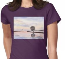 Lake Vaettern in Sweden Womens Fitted T-Shirt