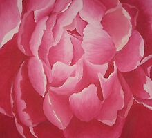 Blooming Dark Peony by Bianca  Rosen