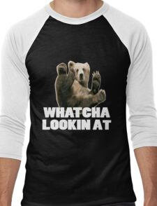 WHATCHA LOOKIN AT FUNNY GRIZZLY BEAR Men's Baseball ¾ T-Shirt