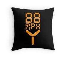 88 MPH The Speed of Time travel Throw Pillow