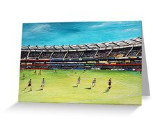 Lions v Geelong Greeting Card