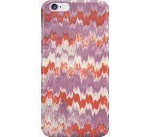Modern pink orange watercolor ikat pattern iPhone Case/Skin