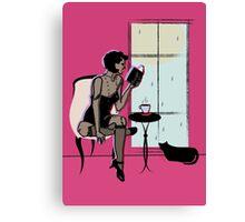 Gatsby Summer Rain Reading  Canvas Print
