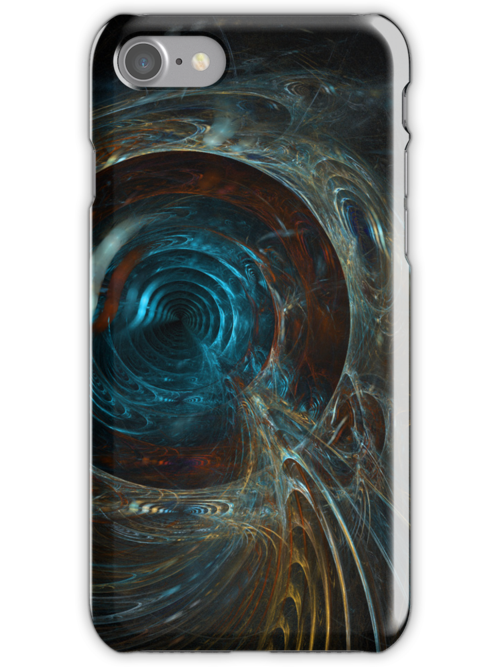 Fractal Design Iphone Case  by Elaine  Manley