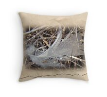 Portrait of a Feather Throw Pillow