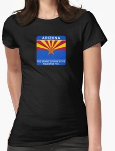 Welcome to Arizona Road Sign Womens Fitted T-Shirt