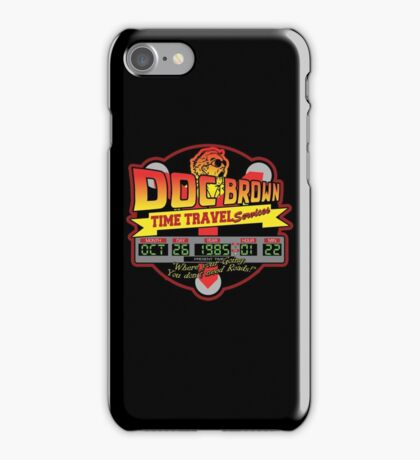 Doc E. Brown Time Travel Services iPhone Case/Skin