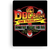 Doc E. Brown Time Travel Services Canvas Print