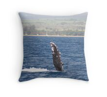 Humpback Whale Pec Fin Throw Pillow