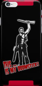 Ash - Evil Dead/Army of Darkness - Boomstick iPhone Case by Chloe van Leeuwen