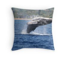 Humpback Breaching - 1 of 3 Throw Pillow
