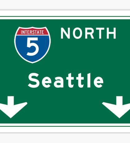 Seattle, WA Road Sign Sticker