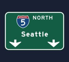 Seattle, WA Road Sign Baby Tee