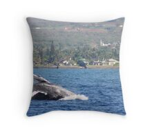 Humpback Breach 2 of 3 Throw Pillow