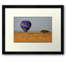 Hot Air Balloon Over the African Plains Framed Print