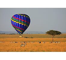 Hot Air Balloon Over the African Plains Photographic Print