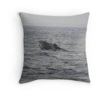 Humpback Whale Inflated Head Lunge Throw Pillow
