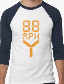 88 MPH The Speed of Time travel Men's Baseball ¾ T-Shirt
