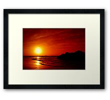 ..~RED SKY AT NIGHT~ Framed Print