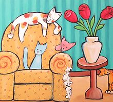 Five Cats and the Ugly Chair by Jenny Gifford