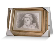 sketch art-portrait of my daughter Greeting Card