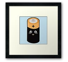 Kawaii Battery Framed Print