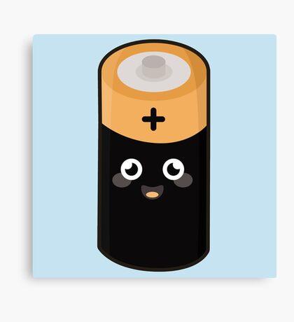 Kawaii Battery Canvas Print