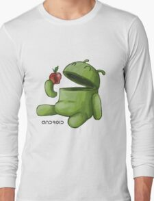 Android Eating Apple Long Sleeve T-Shirt