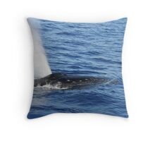 Humpback Whale Powerful Exhalation Throw Pillow