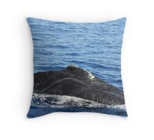 Male Humpback Scars Throw Pillow