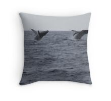Humpback Twin Breach!  #1 of 4 Throw Pillow