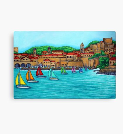 Dubrovnik Regatta Canvas Print
