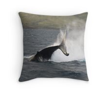 Humpback Whale Peduncle Throw Throw Pillow