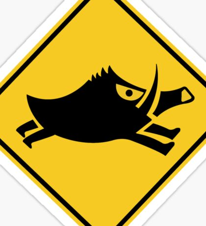 Beware of Wild Boars, Traffic Sign, Japan Sticker