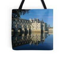 Chenonceau castle in autumn Tote Bag