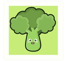 Kawaii Broccoli Art Print