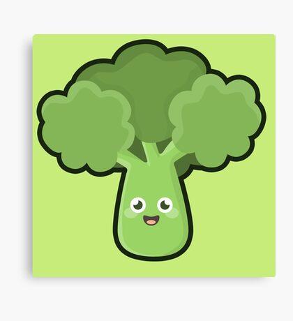 Kawaii Broccoli Canvas Print