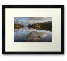 The Jetty In Autumn Framed Print